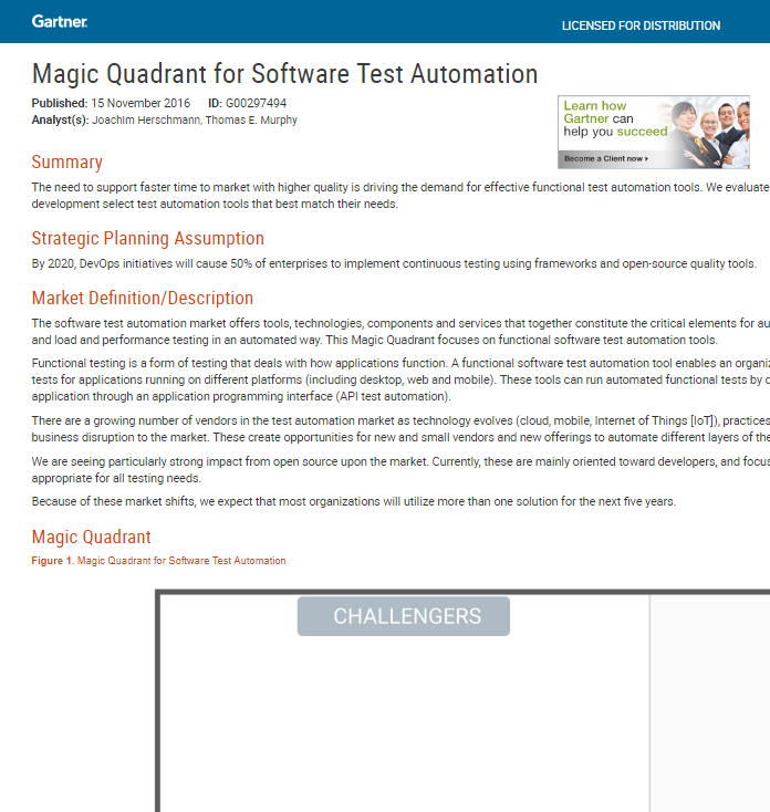 magic quadrant for software test automation pdf