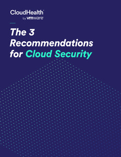 The 3 Recommendations for Cloud Security