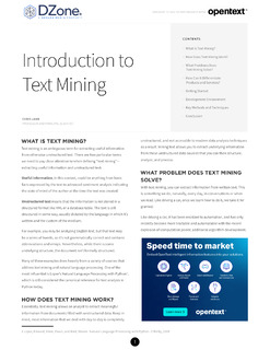 Introduction to Text Mining