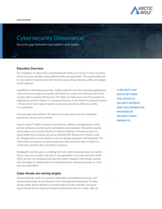 Cybersecurity Dissonance: Security Gap Between Perception and Reality
