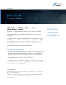SIEM is Dead: Cost and Complexity Killed It
