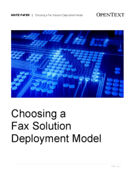 Choosing a Fax Solution Deployment Model