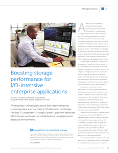 Boosting Storage Performance for I/O-intensive Enterprise Applications
