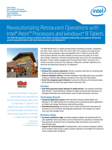 Revolutionizing Restaurant Operations with Intel® Atom™ Processors and Windows 8 Tablets