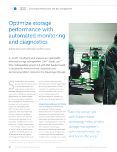 Optimize Storage Performance with Automated Monitoring and Diagnostics