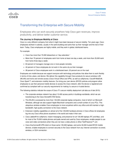 Transforming the Enterprise with Secure Mobility