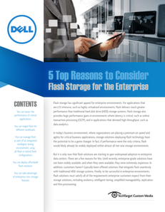 5 Top Reasons to Consider Flash Storage for the Enterprise