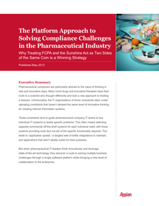 The Platform Approach to Solving Compliance Challenges in the Pharmaceutical Industry