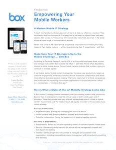 Empowering Your Mobile Worker