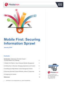 Mobile First: Securing Information Sprawl
