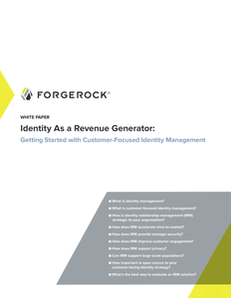 Identity as a Revenue Generator: Getting Started with Customer Focused Identity Management