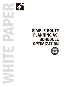 Simple Route Planning vs Schedule Optimization