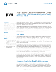 Jive Secures Collaboration In the Cloud