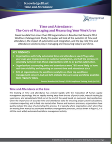 Time and Attendance: The Core of Managing and Measuring Your Workforce