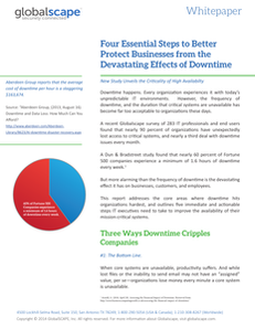 Four Essential Steps to Better Protect Businesses from the Devastating Effects of Downtime