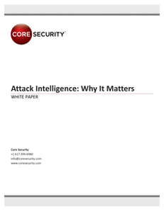 Attack Intelligence:  Why It Matters