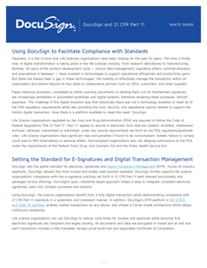 Using DocuSign to Facilitate Compliance with 21 CFR Part 11