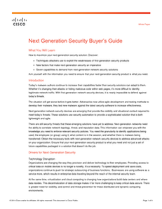 Next Generation Security Buyer's Guide