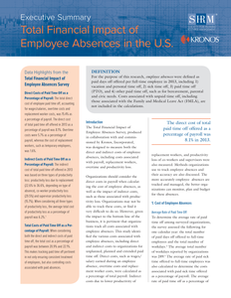 The Total Financial Impact of Employee Absences – Executive Report for United States