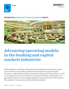 Advancing Operations Models in the Banking and Capital Markets Industries