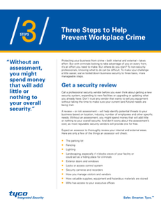 Three Steps to Prevent Workplace Crime