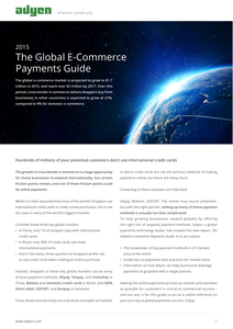 Global E-Commerce Payments Guide