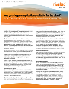 Are Your Legacy Applications Suitable for the Cloud