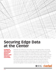 Securing Edge Data at the Center