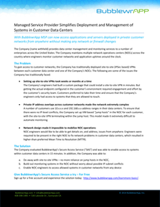 Managed Service Provider Simplifies Deployment and Management of Systems in Customer Data Centers