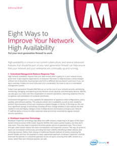 Eight Ways to Improve Your Network High Availability