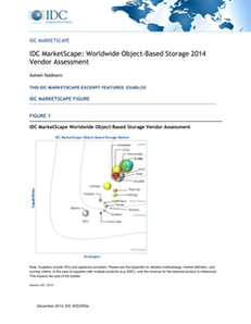 IDC MarketScape: Worldwide Object-Based Storage 2014 Vendor Assessment (With Buyer's Guidance)