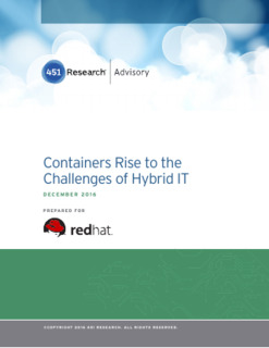 Containers Rise to the Challenges of Hybrid IT