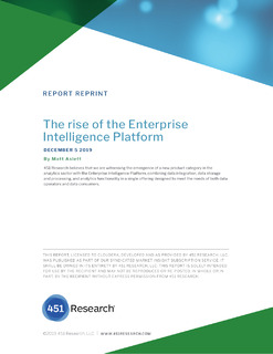 ANALYST REPORT: The Rise of the Enterprise Intelligence Platform