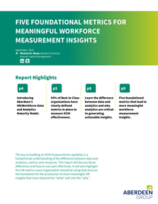 Five Foundational Metrics For Meaningful Workforce Measurement Insights