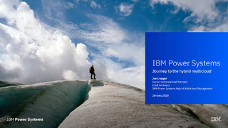 IBM Power Systems – Journey to the Muticloud