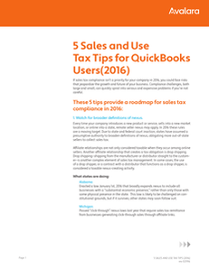 5 Sales and Use Tax Tips for QuickBooks Users