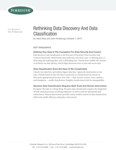 Forrester Research: Rethinking Data Discovery And Data Classification
