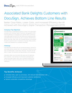 Associated Bank Delights Customers with DocuSign, Achieves Bottom Line Results