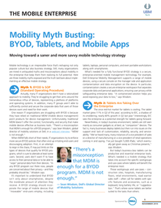 Mobility Myth Busting BYOD, Tablets, and Mobile Apps