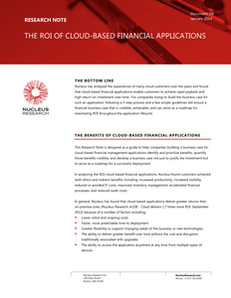 The ROI of Cloud-Based Financial Applications