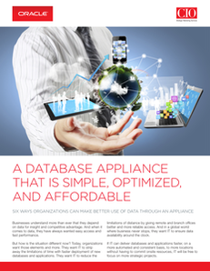 A Database Appliance That Is Simple, Optimized, and Affordable
