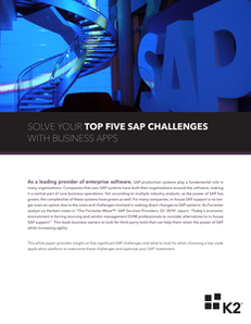 Solve Your Top Five SAP Challenges with Business Apps