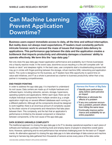 Can Machine Learning Prevent Application Downtime?