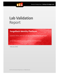 ForgeRock Identity Platform Customer-driven, Internet-scale Identity Relationship Management
