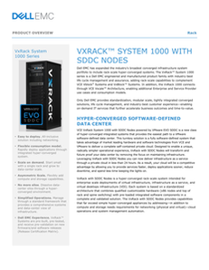 VxRack™ System 1000 with SDDC Nodes