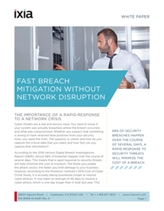 Fast Breach Mitigation Without The Network Disruption