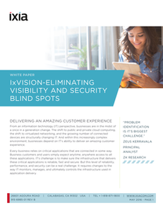 IxVision – Eliminating Visibility and Security Blind Spots