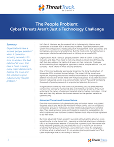 The People Problem: Cyber Threats Aren't Just a Technology Challenge