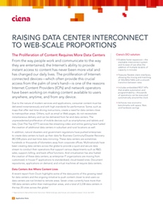 Raising Data Center Interconnect to Web-Scale Proportions