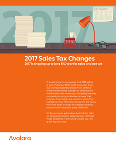 2017 Sales Tax Changes – What's new for the new year